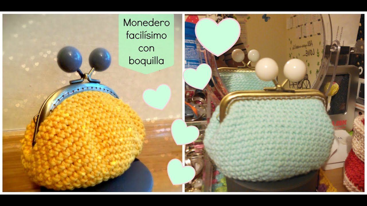 Monedero de ganchillo fácil con forro - Easy crochet purse - Tutorial ...