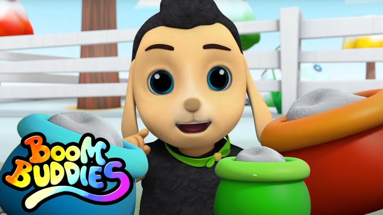 Baa baa oveja negra | Canciones de Halloween | Boom Buddies Español | Dibujos animados