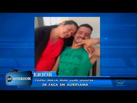 Filho mata mãe com golpes de faca em Auriflama