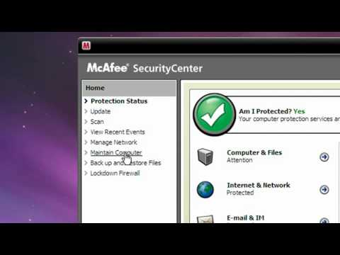 Cleaning Up Your Computer Using McAfee QuickClean - Windows XP