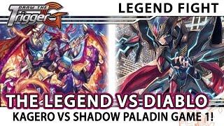 """Kai """"The Legend"""" Kagero vs Diablo Shadow Paladin Game 1 - Cardfight!! Vanguard"""