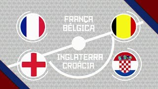 Copa do Mundo 2018 - Semifinais - França x Bélgica e Inglaterra x Croácia (10 e 11/07/2018)