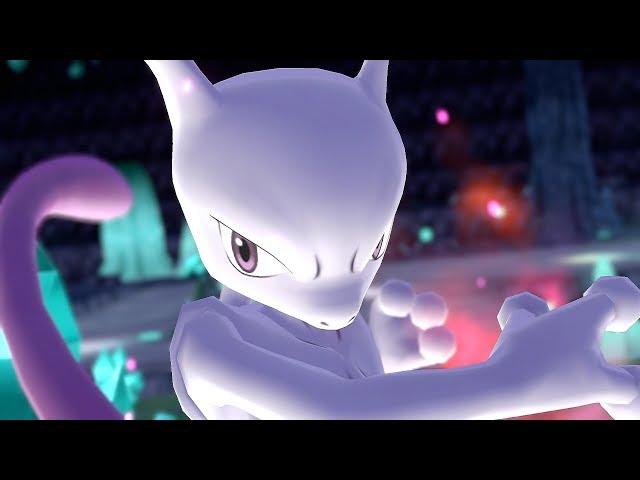 Pokemon Let's Go Pikachu & Eevee - Mewtwo + Green Battle