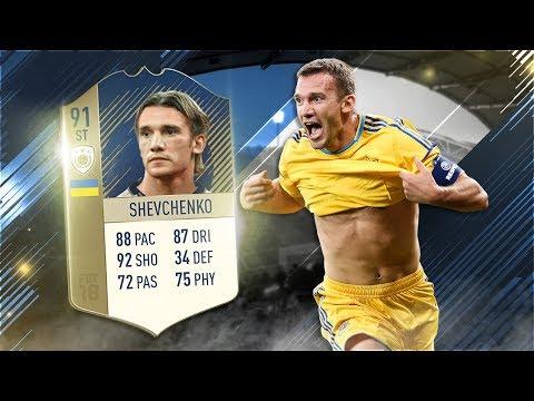 FIFA 18 Prime Icon Shevchenko Review - 91 Icon Andriy Shevchenko Player Review - Fifa 18 Gameplay