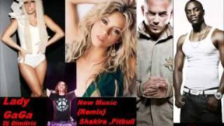 Lady GaGa , Shakira , Pitbull , David Guetta ft Akon Mega Remix (BY Aramis)