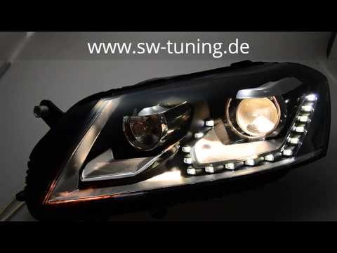 sw light scheinwerfer vw passat b7 11 15 led standlicht. Black Bedroom Furniture Sets. Home Design Ideas
