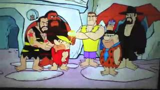 Wwe meets the flinstones [your icecream is melting}