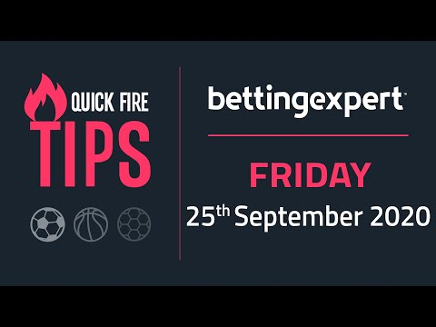 Betting tips today | The best bets for Friday 25th September