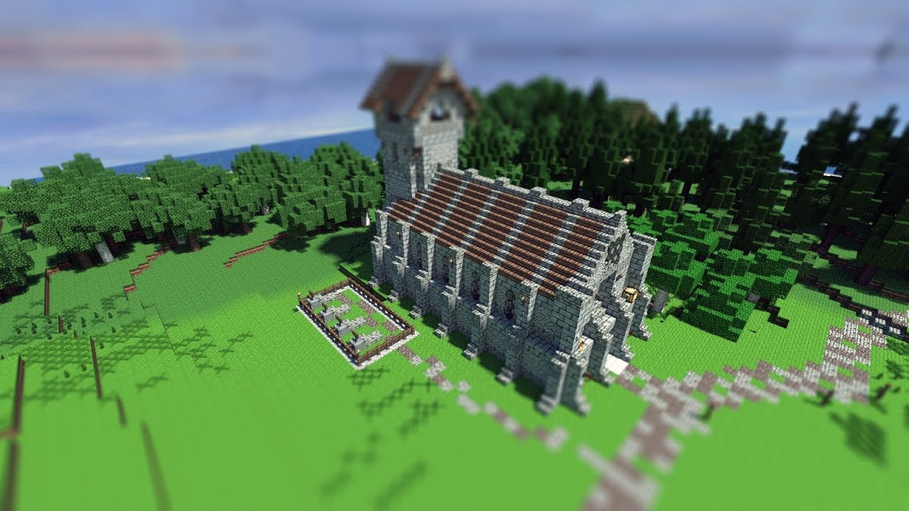 Minecraft medieval church timelapse npg malvernweather