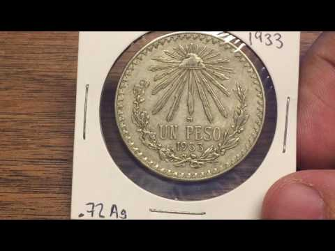 Mexico 1 Peso 1933 (Large Silver Coin of the Week Feb 21 2017)