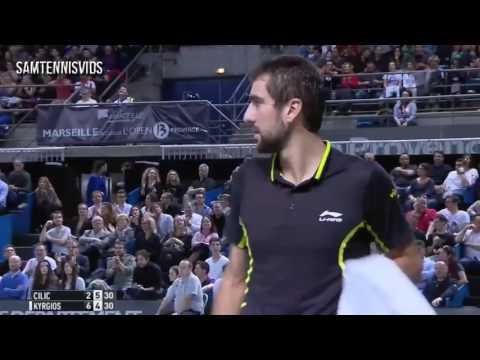 Nick Kyrgios Vs Marin Cilic Open 13 Marseille 2016 Final (Highlights HD)