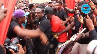 Crowd mobs Countryman Songo at Ebony's one week memorial