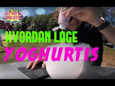 Hvordan Lage Yoghurtis Naturfag Rocker Youtube