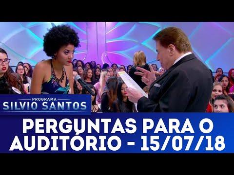 Perguntas para o auditório | Programa Silvio Santos (15/07/18)