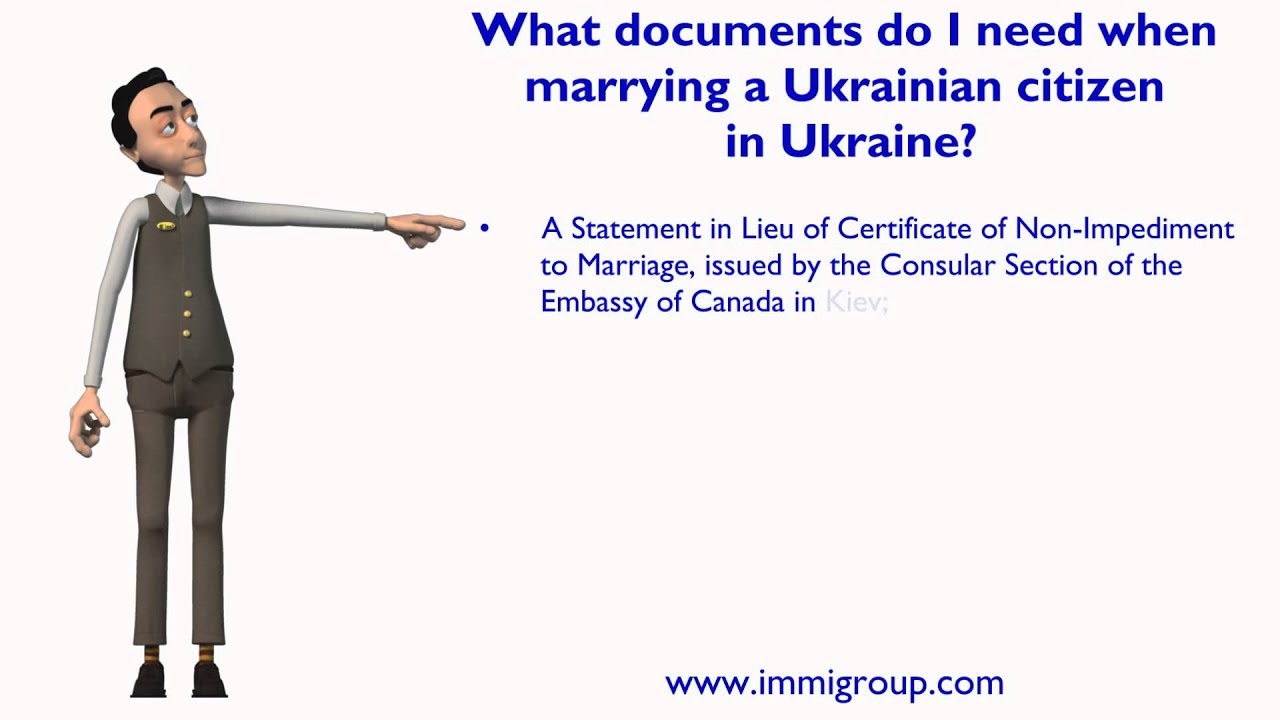 What Documents Do I Need When Marrying A Ukrainian Citizen In