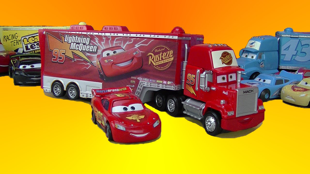 Toy Race Trucks : Disney cars toys mac hauler truck ligtning mcqueen race