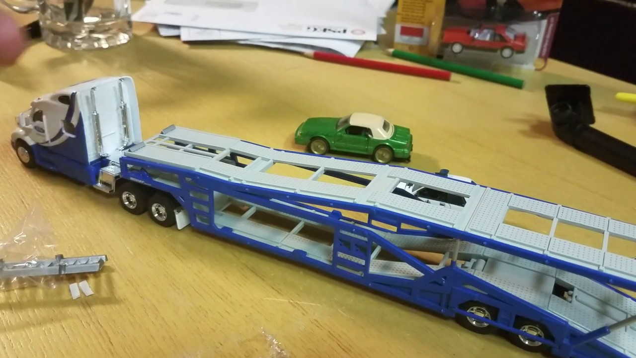 1//64 SPECCAST YELLOW 5 CAR MILLER CAR CARRIER TRANSPORT TRAILER
