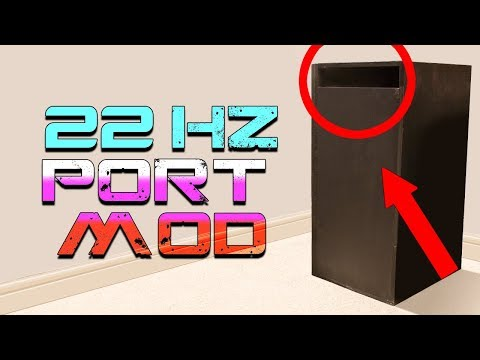 22HZ Subwoofer Box Port Mod (Experiment 2)