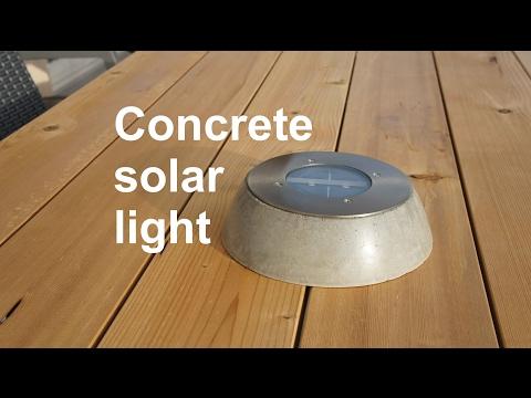 Concrete solar light