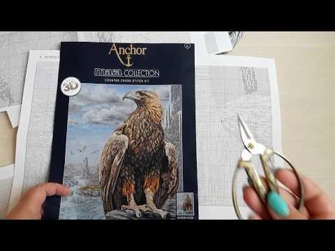 Вышивка крестиком.Anchor Maia.Орёл 3D.Подробный обзор набора.