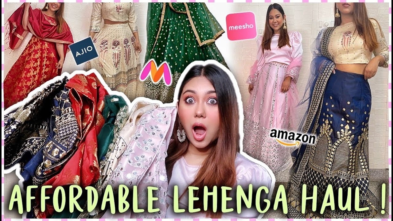 #ShoppingChallenge Where To Find Affordable Lehenga Online? | ThatQuirkyMiss
