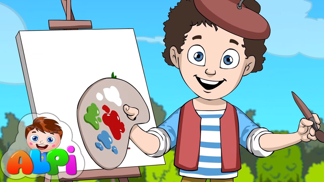 Renkler Sarkisi Ben Bir Kucuk Ressamim Okul Oncesi Cocuk