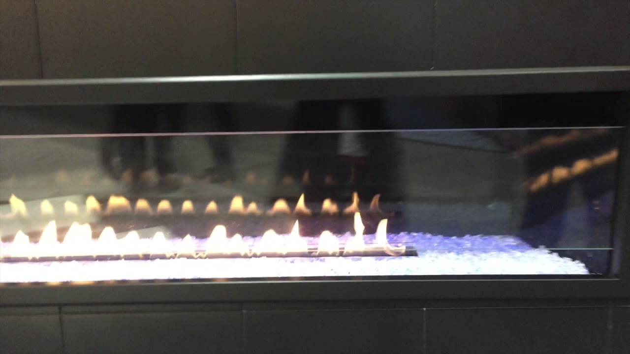 Boulevard 72 Vent Free Linear Fireplace - YouTube