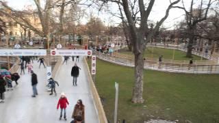 빈 시청앞 광장(아이스링크)