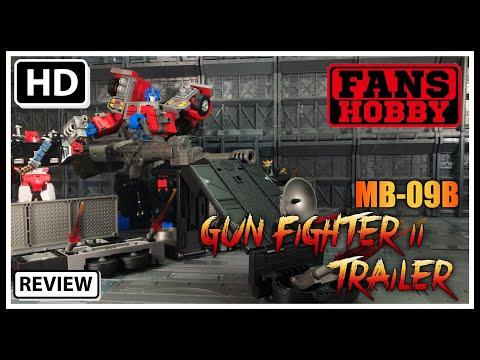 Fans Hobby MB-09B GUNFIGHTER TRAILER Transformers G2 Laser Optimus Prime Trailer