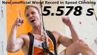 NEW Unofficial World Record in Speed Climbing - 5.578 seconds! SCBC 2015