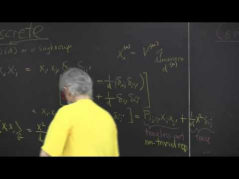 ChaosBook.org chapter Continuous symmetry factorization - The Great Orthonormality Theorem
