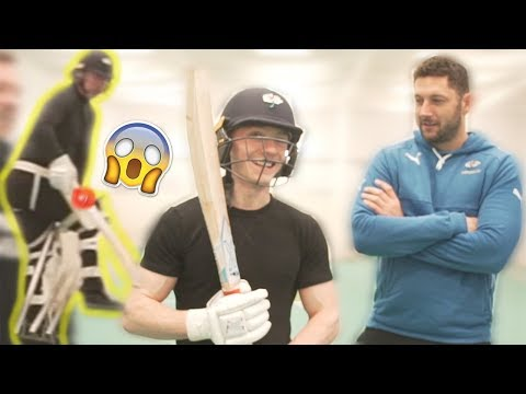 FACING 100MPH CRICKET BALL!! **Neil & Nile Vs England Squad**