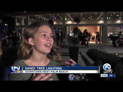 Sandi Tree lights up the downtown West Palm Beach waterfront