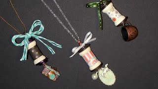 Thread Spool Necklaces