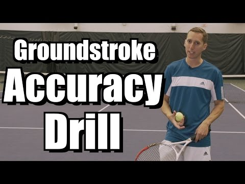 Baseline Accuracy Drill - Forehand and Backhand Tennis Lessons - Instruction from Essential Tennis