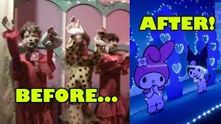 Lina World Dark Ride 2009 Vs 2018 Version! Carnival Fantasy & Hello Kitty! Japan