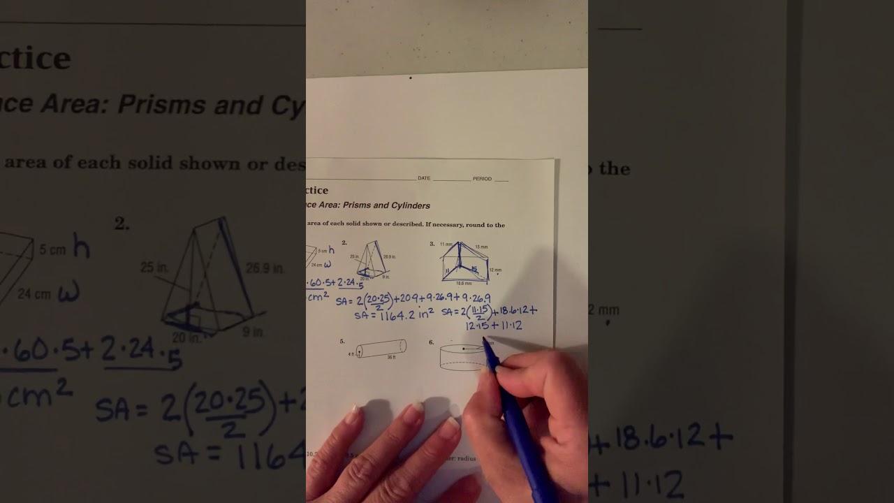 Worksheet 11-4 Answer Key - YouTube