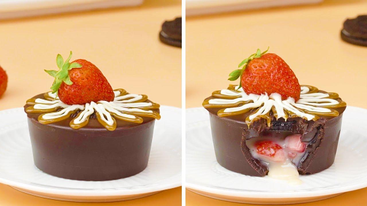 Strawberry  Cake Decorating Tutorials  So Yummy Cake Tutorials   Easy Chocolate Cake   #Shorts