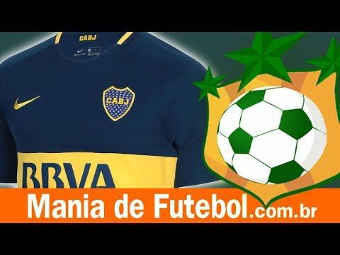 Camisa Jogo 1 Boca Juniors Nike 2017 18 Azul - YouTube 349cb310ded22