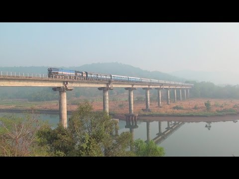 Incredible Konkan Railway - Trains Cruising Through Bridges, Tunnels, Viaduct, Scenery etc.