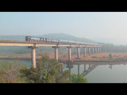 Incredible Konkan Railway – Trains Cruising Through Bridges, Tunnels, Viaduct, Scenery etc.