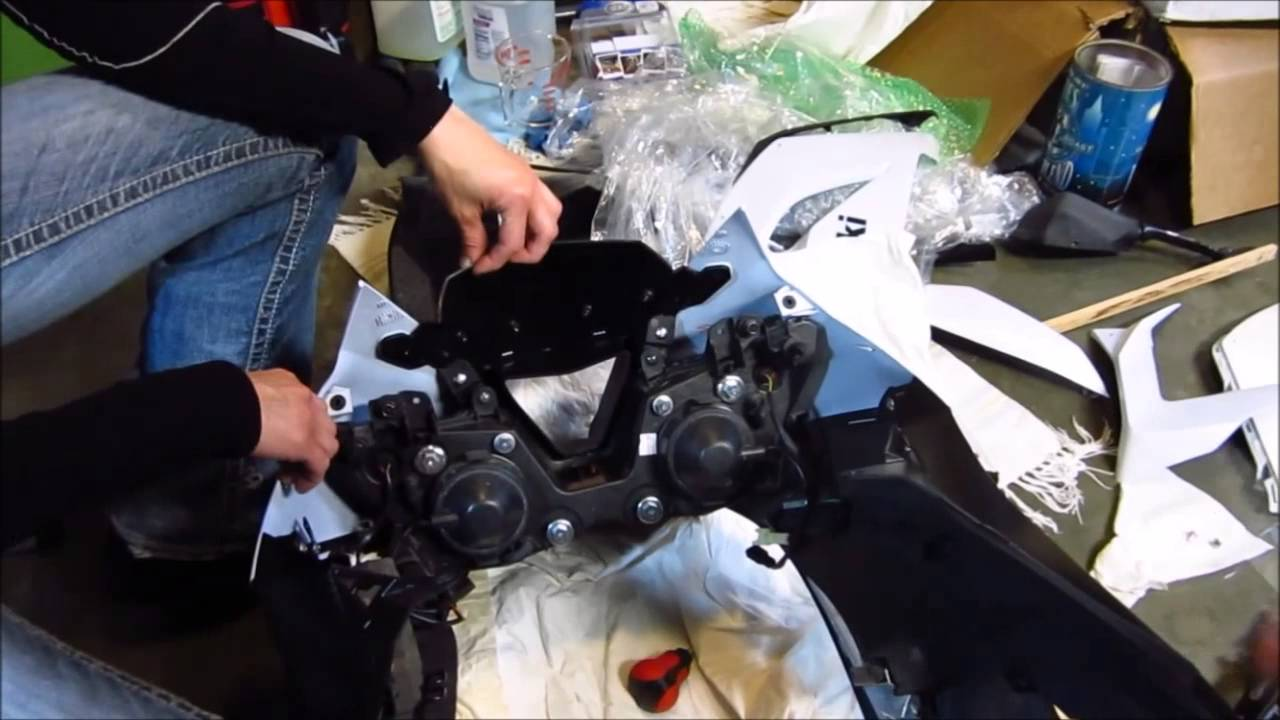 2013 zx6r upper front fairing installation youtube engine parts zx6r engine diagram #33
