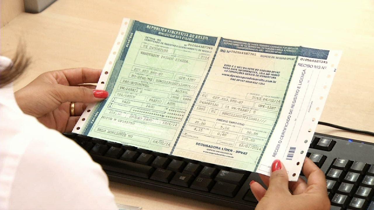 Resultado de imagem para serviço de emissão do Certificado de Registro de Veículos