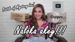 MSYTERY BOX of LAZADA VS SHOPEE! (na- SCAM ata ako) (WORTH 1,000 PESOS!)