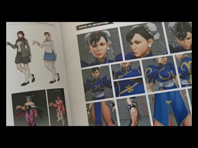 avis artbook how to make capcom fighting characters