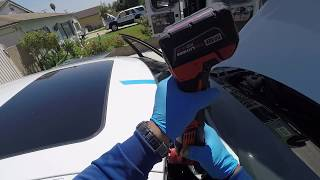 2017 BMW 340i windshield replacement by Alfredo's Auto glass
