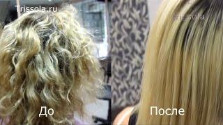 видео кератиновое выпрямление волос
