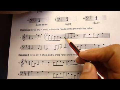 Music Theory Grade 1  Distinction 16 Key signatures