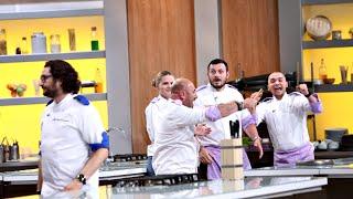"""Echipa lui Chef Cătălin Scărlătescu câștigă proba cocktailului! Chef Sorin: """"Nu-i nimic funny"""""""