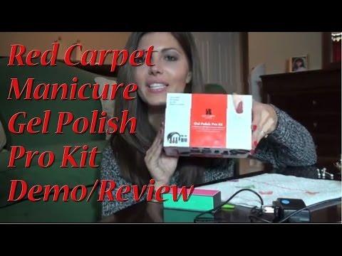 Demo/Review: RED CARPET MANICURE GEL POLISH PRO KIT (Starter Kit)